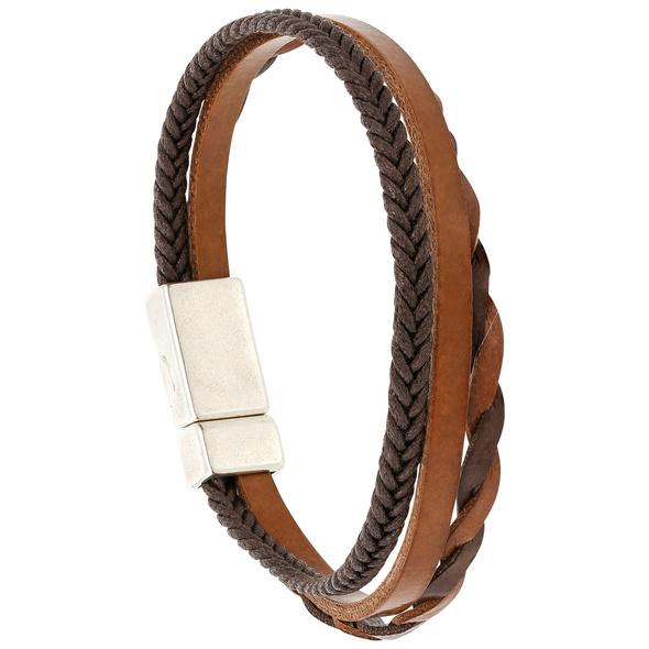 Herren Armband - Brown Lines