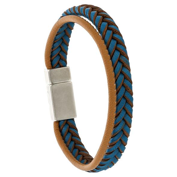 Herren Armband - Braided Blue
