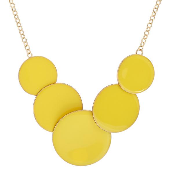 Kette - Yellow Circles