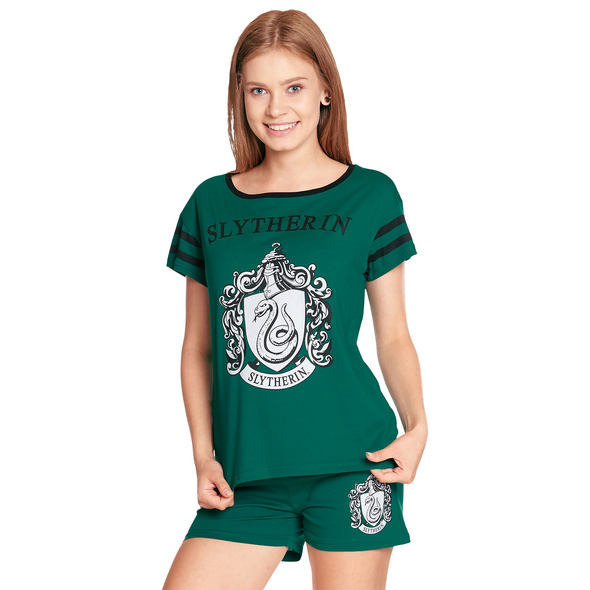 Harry Potter - Slytherin Pyjama kurz Damen