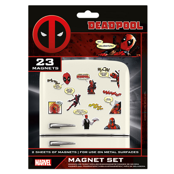 Deadpool - Comic Magnet-Set