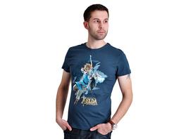 Zelda - Breath of the Wild Link T-Shirt blau