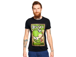 Super Mario - Yoshi Propaganda Poster T-Shirt schwarz