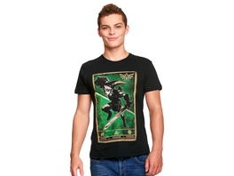Zelda - Link Triforce Propaganda Poster T-Shirt schwarz
