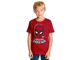 Spider-Man - Face Kinder T-Shirt rot