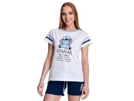 Lilo & Stitch - Ohana Means Family Pyjama kurz Damen