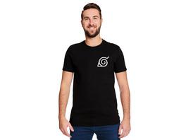 Naruto - Konoha Mini Symbol T-Shirt schwarz