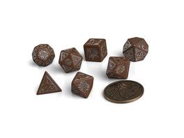 Witcher - Geralt Roachs Companion RPG Würfel Set 7tlg mit Sammlermünze
