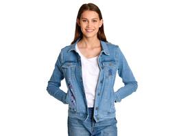 Lilo & Stitch - Flowers Jeansjacke Damen blau